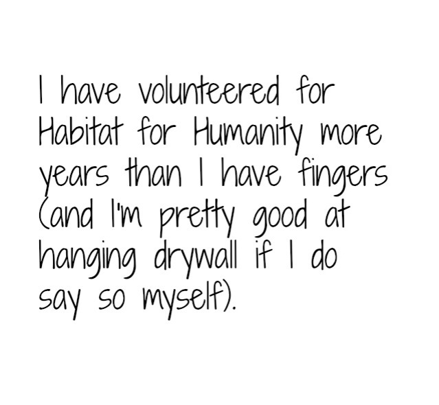Habitat Humanity text